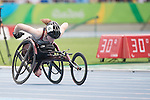 RIO DE JANEIRO - 10/9/2016:  Ilana Dupont competes in the Women's 400m - T53 Heat  in the Olympic Stadium during the Rio 2016 Paralympic Games. (Photo by Matthew Murnaghan/Canadian Paralympic Committee