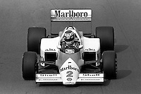 DETROIT, MI - JUNE 22: Keke Rosberg of Finland drives the McLaren MP4-2C/TAG TTE PO1 during the Detroit Grand Prix FIA Formula One World Championship race on the Detroit Street Circuit in Detroit, Michigan, on June 22, 1986.