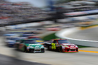 30 March - 1 April, 2012, Martinsville, Virginia USA.Dale Earnhardt Jr.,Jeff Gordon, restart.(c)2012, Scott LePage.LAT Photo USA