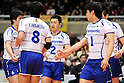 Panasonic Panthers team group, Daisuke Usami (Panthers), MARCH 5, 2011 - Volleyball : 2010/11 Men's V.Premier League match between Toyoda Gosei Trefuerza 1-3 Panasonic Panthers at Tokyo Metropolitan Gymnasium in Tokyo, Japan. (Photo by AZUL/AFLO).
