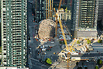 Aerial Photos-Construction Cranes in Seattle