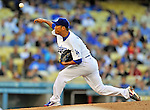 22 July 2011: Los Angeles Dodgers pitcher Hiroki Kuroda on the mound against the Washington Nationals at Dodger Stadium in Los Angeles, California. The Nationals defeated the Dodgers 7-2 in their first meeting of the 2011 season. Mandatory Credit: Ed Wolfstein Photo