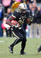 WEST LAFAYETTE, IN - OCTOBER 06: Running back Akeem Shavers #24 of the Purdue Boilermakers runs the ball against the Michigan Wolverines at Ross-Ade Stadium on October 6, 2012 in West Lafayette, Indiana. (Photo by Michael Hickey/Getty Images) *** Local Caption *** Akeem Shavers