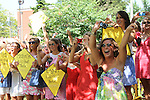 Kappa Alpha Theta sorority members cheer when they see their sorority pledges approaching during the 2011 sorority bid day event on Thursday, August 18, 2011. Photo by Brandon Goodwin | Staff