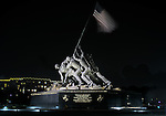 Iwo Jima Memorial at Night