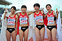 (L to R) Miho Shingu (JPN), Satomi Kubokura (JPN), Chisato Tanaka (JPN), Sayaka Aoki (JPN),..JULY 10, 2011 - Athletics :The 19th Asian Athletics Championships Hyogo/Kobe, Women's 4x400m Relay Final at Kobe Sports Park Stadium, Hyogo ,Japan. (Photo by Jun Tsukida/AFLO SPORT) [0003]