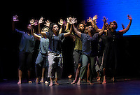 "New York City, NY. October 20, 2014. Urban Bush Women perform ""Shelter,"" by Jawole Willa Jo Zollar during The 30th anniversary of The Bessies, the New York Dance and Performance Awards, which were held at the world famous Apollo Theatre in Harlem. Photo by Marco Aurelio/VIEWpress"