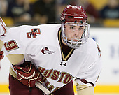 Barry Almeida (BC - 9) - The Boston College Eagles defeated the Northeastern University Huskies 5-4 in their Hockey East Semi-Final on Friday, March 18, 2011, at TD Garden in Boston, Massachusetts.