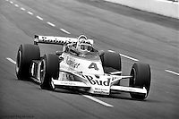 HAMPTON, GA - APRIL 22: Johnny Rutherford drives his McLaren M24B/Cosworth TC enroute to victory in the Gould Twin Dixie 125 event on April 22, 1979, at Atlanta International Raceway near Hampton, Georgia.