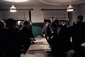 Nizhniy Novogrod, Russia..TB prisoners move to their rooms after eating a sparse dinner of soup and bread.