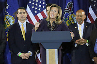 PHILADELPHIA, PA - OCTOBER 31 : Katie McGinty pictured working to elect Hillary Clinton as the next President of the United States at the Philadelphia Democratic Party's Jefferson-Jackson Autumn Event at the Sheet Metal Workers Hall in Philadelphia, Pa on October 31, 2016  photo credit Star Shooter/MediaPunch