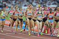 The Womens 1500m race at the Sainsbury Anniversary Games, Olympic Stadium, London England, Friday 26th July 2013-Copyright owned by Jeff Thomas Photography-www.jaypics.photoshelter.com-07837 386244. No pictures must be copied or downloaded without the authorisation of the copyright owner.