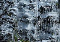 &quot;ICE FALL&quot;<br /> <br /> Icicles forming as water seeps from rocky cliffs.
