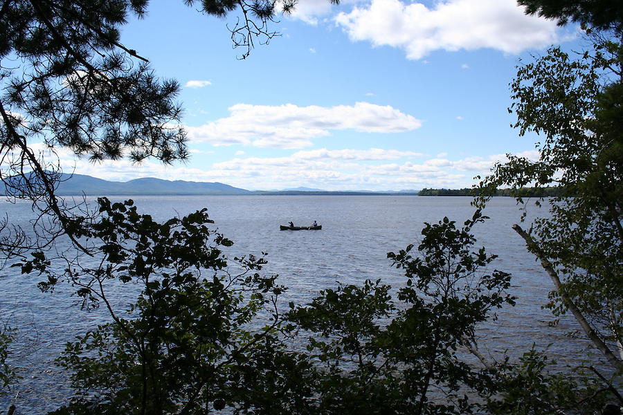 Canoe on Moosehead Lake Maine