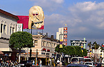 Holywood Boulevard with Angelyne billboard circa 1990s