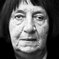 "Helene Boppert (b. Germany, 1938), blinded during the Second World War (WWII). ""On February 24, 1945, the American bombs fell on our town. There were 65 dead. My father and both my brothers died. I was brought out of our burning house unconscious. I had broken both of my legs and almost lost my sight. I went to a regular school. I learned to write but when I wrote something I couldn't read it. This is why I couldn't take up a profession and was always a housewife. An eye doctor told me that I would eventually lose my eyesight entirely. I took that very badly and lived in fear for when that day would come. For eleven years now, I have been totally blind. I have accepted that, it doesn't do much good if you resist. You have to think: it could always be worse. I still have my husband. He takes walks with me and brings me along to parties and birthdays. He takes care of me."". CHECK with MRM/FNA"