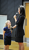 Client: Milwaukee Catholic Herald<br /> Miss Wisconsin Laura Kaeppeler took questions from the students during her visit to Blessed Sacrament School on Thursday, Oct. 6, 2011, including one from third grader Victoria Lueck. Kaeppeler went on to win the Miss American title.