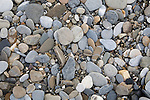 Pebbles on gravel beach.  Gataga River, British Columbia. Muskwa-Kechika Management Area.