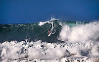 Andy Irons, 3x ASP World Surfing Champion, on his famous ride at the 2009 Quiksilver in Memory of Eddie Aikau Contest, Waimea Bay, Oahu.