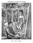 "Masterpieces of Victorian Art Restored: Her First Audition. After ""King Cophetua and the Beggar Maid"" by Sir Edward Burne-Jones RA"