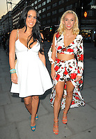 Andraya Smith and Tiffany Watson at the Folli Follie x HELLO! Magazine party, Folli Follie, Park House, Oxford Street, London, England, UK, on Thursday 25 August 2016.<br /> CAP/CAN<br /> &copy;CAN/Capital/MediaPunch  **USA and South America Only**