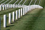 Tombstone rows across the hills