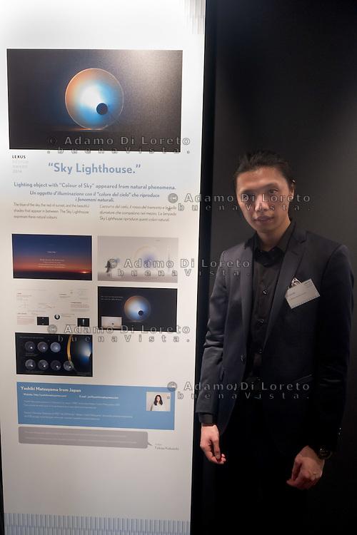 Yoshiki Matsyama designer of Sky Lightouse project during the Lexus Design Amazing 2014, on April 08, 2014. Photo: Adamo Di Loreto/BuenaVista*photo