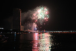 Fireworks light up the skies over the Han River at the fifth annual Da Nang International Fireworks Competition in Da Nang, Vietnam. Italy won the two-day, five-nation event, which also included teams from Canada, China, France and Vietnam. April 30, 2012.