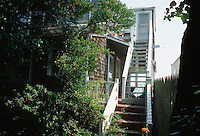1993 July 08..Conservation.Cottage Line..REHAB.EXTERIOR VIEW BEFORE.1734 EAST OCEAN VIEW AVENUE.STAIRS TO 2ND FLOOR...NEG#.NRHA#..