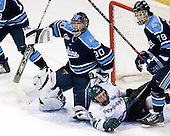Ben Bishop (University of Maine - Des Peres, MO), Tim Kennedy (Michigan State - Buffalo, NY), Simon Danis-Pepin (University of Maine - Vaudreuil-Dorion, PQ) - The Michigan State Spartans defeated the University of Maine Black Bears 4-2 in their 2007 Frozen Four semi-final on Thursday, April 5, 2007, at the Scottrade Center in St. Louis, Missouri.