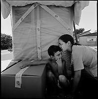 Newe Dekalim Settlement, Gaza strip Israel, Aug. 2005 .The last moments...