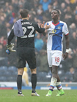 Blackburn Rovers' Lucas Joao and Preston North End's Chris Maxwell<br /> <br /> Photographer Rachel Holborn/CameraSport<br /> <br /> The EFL Sky Bet Championship - Blackburn Rovers v Preston North End - Saturday 18th March 2017 - Ewood Park - Blackburn<br /> <br /> World Copyright &copy; 2017 CameraSport. All rights reserved. 43 Linden Ave. Countesthorpe. Leicester. England. LE8 5PG - Tel: +44 (0) 116 277 4147 - admin@camerasport.com - www.camerasport.com