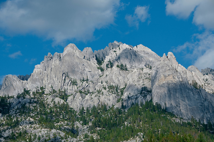 Shasta region of Northern California: Scenic at Castle Crags state park..Photo copyright Lee Foster.  Photo # california-castle-crags-cashas105183