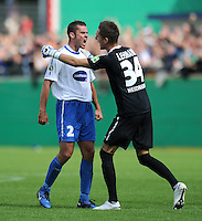 FUSSBALL   DFB POKAL   SAISON 2011/2012  1. Hauptrunde FC Heidenheim - Werder Bremen              30.07.2011 Ingo Feistle, Torwart Frank Lehmann (v. .i., 1 FC Heidenheim 1846)