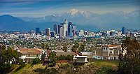 Los Angeles, CA, Skyline, Cityscape, Kenneth Hahn State Recreation Area, Panorama, View,