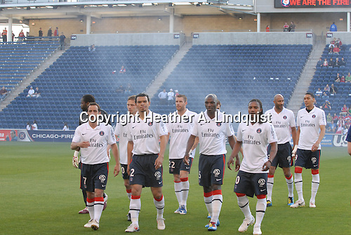19 May 2010 - Bridgeview, IL -Toyota Park..Chicago Sister Cities International Cup:.Paris Saint-Germain vs. Chicago Fire..Paris Saint-Germain team before the game..Photo Credit: HEATHER A. LINDQUIST/SIPA©....