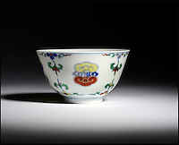 BNPS.co.uk (01202 558833)Pic: Woolley&amp;Wallis/BNPS<br /> <br /> Bidding frenzy over a wine cup.<br /> <br /> A tiny 10cm wine cup has astonished auctioneers by selling for nearly &pound;500,000.<br /> <br /> The chinese porcelain Lingzhi or wine bowl dating from the early 18th century sold for &pound;482,800 at Woolley &amp; Wallis auctioneers in Salisbury on friday.