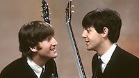 John Lennon and Paul McCartney, February, New York City, 1964. Photographer John G. Zimmerman
