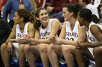 20 March 2006: Rosalyn Gold-Onwude, Brooke Smith, Jillian Harmon and Candice Wiggins during Stanford's 88-70 win over Florida State in the second round of the NCAA Women's Basketball championships at the Pepsi Center in Denver, CO.