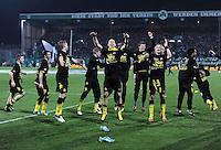 FUSSBALL   DFB POKAL   SAISON 2011/2012   HALBFINALE SpVgg Greuther Fuerth - Borussia Dortmund                  20.03.2012 Jubel nach dem Sieg, Jakub  KUBA Blaszczykowski , Sebastian Kehl, Neven Subotic , Marcel Schmelzer (v. li., Borussia Dortmund)