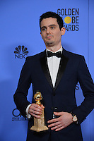 Damien Chazelle at the 74th Golden Globe Awards  at The Beverly Hilton Hotel, Los Angeles USA 8th January  2017<br /> Picture: Paul Smith/Featureflash/SilverHub 0208 004 5359 sales@silverhubmedia.com