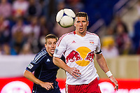 Kenny Cooper (33) of the New York Red Bulls. The New York Red Bulls and Sporting Kansas City played to a 0-0 tie during a Major League Soccer (MLS) match at Red Bull Arena in Harrison, NJ, on October 20, 2012.