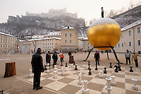 Giant chess board Saltzburg Austria