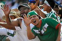 Mexico (MEX) fans celebrate the team's fifth goal. Mexico (MEX) defeated the United States (USA) 5-0 during the finals of the CONCACAF Gold Cup at Giants Stadium in East Rutherford, NJ, on July 26, 2009.