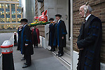 Boars Head Parade. The Worshipful Company of Butchers, leave the Pewterers Hall, for the annual short walk to the Guildhall. Where the Boars Head is presented to the Mayor of London.  2015
