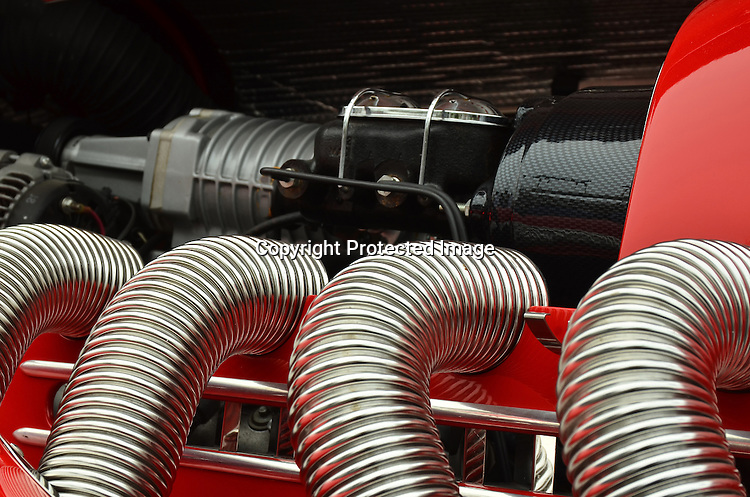 Colorful exhaust system stock photo