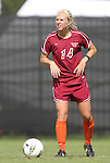 02 October 2011: Virginia Tech's Kelsey Mitchell. The Duke University Blue Devils defeated the Virginia Tech Hokies 1-0 at Koskinen Stadium in Durham, North Carolina in an NCAA Division I Women's Soccer game.