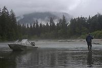 Wrangell, Alaska stream fishing for Cutthroat, Dolly Varden, Chum salmon, Pink salmon.