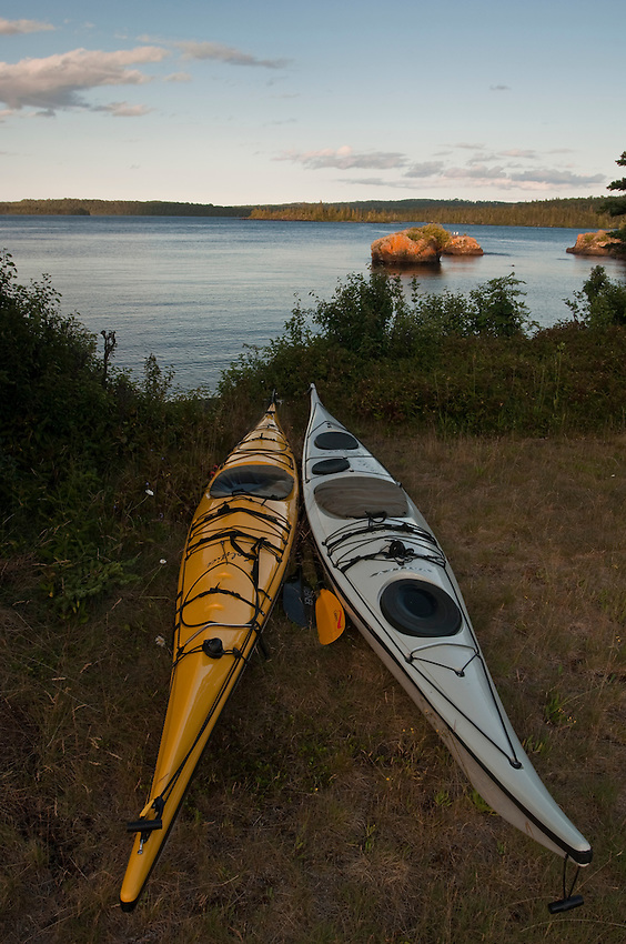Kayaks at Isle Royale National Park.