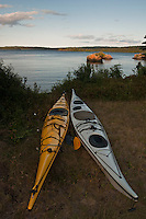 Kayaks at Isle Royale National Park.